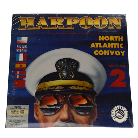 "New! AMIGA ""HARPOON - NORTH ATLANTIC CONVOY - BATTLESET 2"" Computer Game SEALED!"