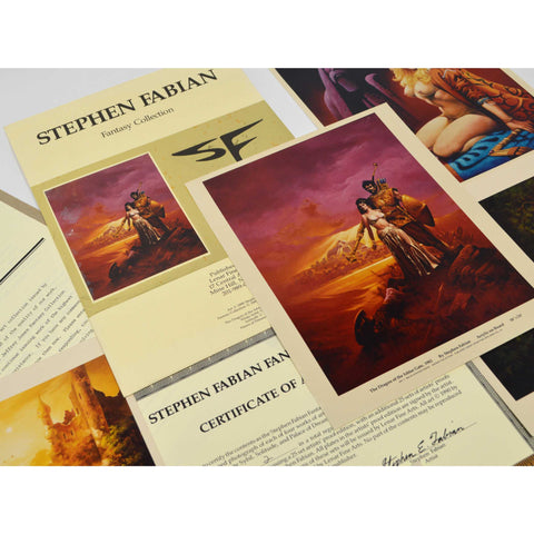 "Excellent! STEPHEN FABIAN ""FANTASY COLLECTION"" c.1990 by ""LENAR FINE ARTS"" Nice!"