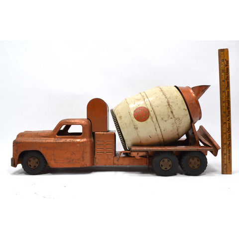 "Vintage STRUCTO READY-MIX CONCRETE"" TRUCK Cement Mixer BROWN-GOLD **Has Issues**"