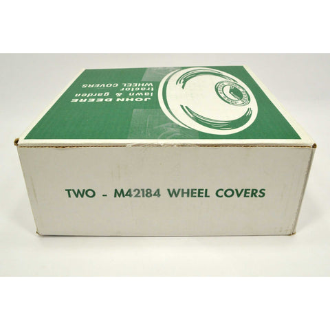 "New! JOHN DEERE WHEEL COVERS #M42184 Pair 11"" Chrome HUB CAPS, 2 HUBCAPS in Box!"