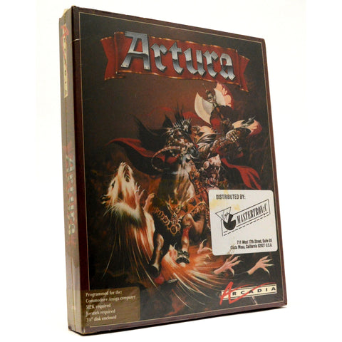 "Factory Sealed! AMIGA 512K ""ARTURA"" Brand New COMPUTER GAME Arcadia, 1989 (2of2)"