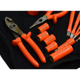 Briefly Used CEMENTEX INSULATED TOOL SET of 16 Electrician Tools in CANVAS BAG!