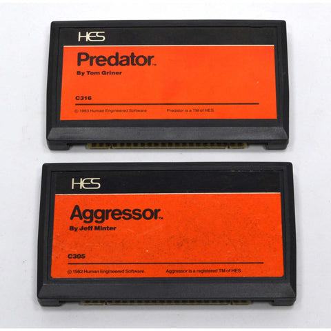 "Vintage (HES) HUMAN ENGINEERING SOFTWARE Lot of 2 Games ""PREDATOR"" & ""AGGRESSOR"""