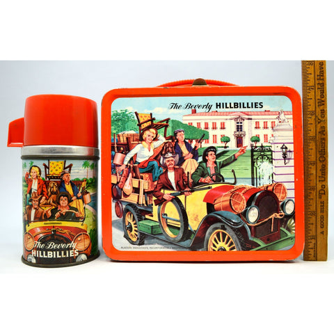 Vintage 1963 THE BEVERLY HILLBILLIES LUNCHBOX w/ Thermos by ALADDIN Excellent!!
