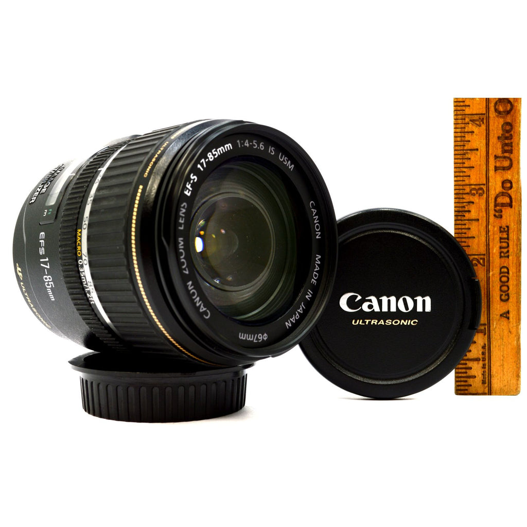 Briefly Used CANON EF-S ZOOM LENS 17-85mm IS USM (Ultrasonic) 4-5.6 w/ BOTH CAPS