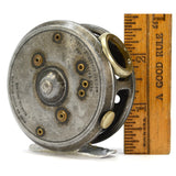"Antique HARDY BROS FLY FISHING REEL Very Rare ""ST. GEORGE JUNIOR"" England c.1920"