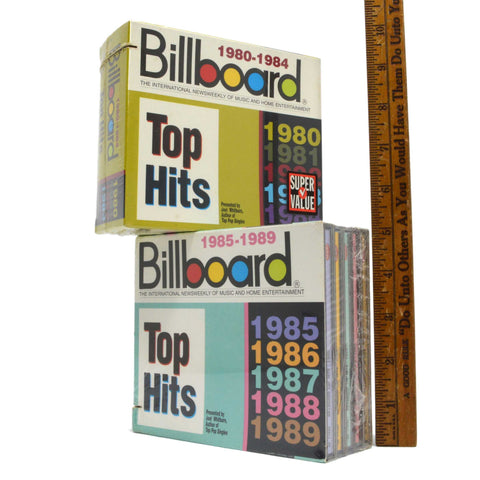 Brand New! BILLBOARD TOP HITS CD's Lot of 2; 5-Packs 10-TOTAL CDS from 1980-1989