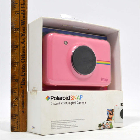 "New (Open Box) POLAROID ""SNAP"" PINK Instant Print DIGITAL CAMERA Complete in Box"