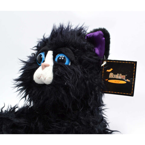"New with Tags! RUSS ""SKRATCHES"" PLUSH CAT Stuffed Animal #26337 VIBRATES & MEOWS"