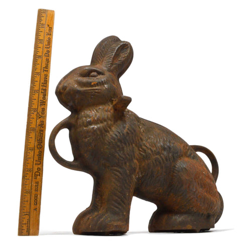 Antique GRISWOLD RABBIT CAKE MOLD (1-Half Only) CAST IRON BUNNY No. 863 Doorstop