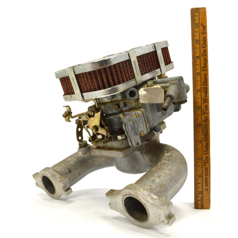 "Vintage WEBER CARBURETOR ""32/36, DGV-5A"" with PIERCE INTAKE MANIFOLD ""CP 91052"""