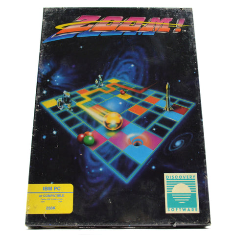 "Sealed! IBM PC 256K or TANDY 1000 ""ZOOM!"" Arcade Style COMPUTER GAME c.1988 New!"