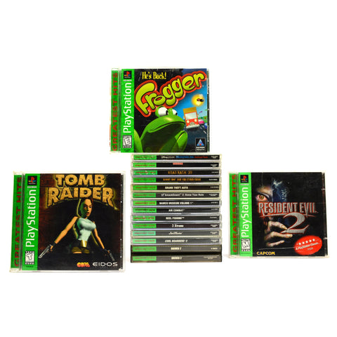 Sick! PLAYSTATION 1 GAME Lot of 16 PS1 Games! RESIDENT EVIL Frogger TOMB RAIDER+