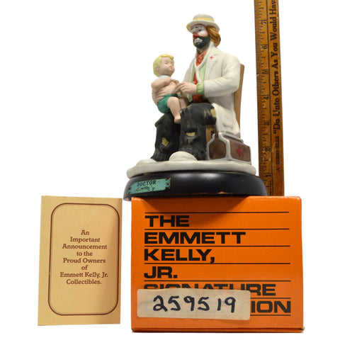 "In Box EMMETT KELLY ""DOCTOR"" CLOWN No. 9587 Porcelain PROFESSIONAL SERIES c.1990"