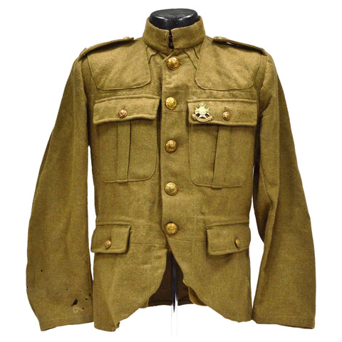 "Antique ""SEAFORTH HIGHLANDERS"" JACKET w/ Badges! ""SHERWOOD FORESTERS DERBYSHIRE"""