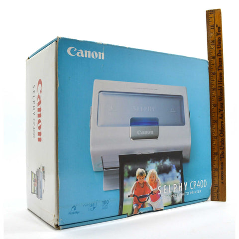 New in Open Box CANON SELPHY COMPACT PHOTO PRINTER #CP400 Never Used! COMPLETE