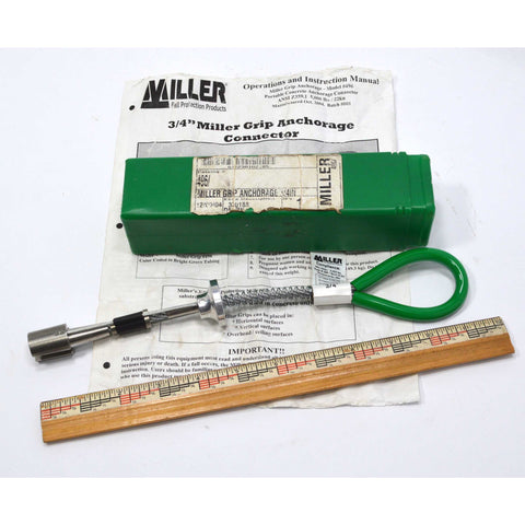 "New (Open Tube) MILLER by HONEYWELL ""GRIP ANCHORAGE 3/4 IN"" No. 496 NOS frm 2004"