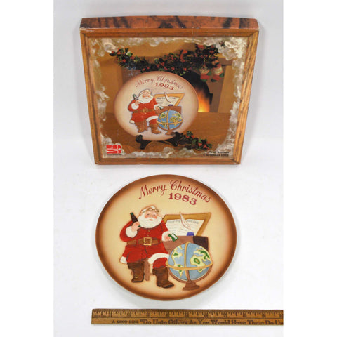 "Excellent COCA COLA ""MERRY CHRISTMAS 1983"" PLATE First Annual No. K21222 in Box!"