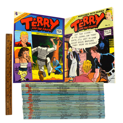 "Very Nice ""TERRY AND THE PIRATES"" COMIC BOOK Lot of 25 PAPERBACK BOOKS c.1986-92"