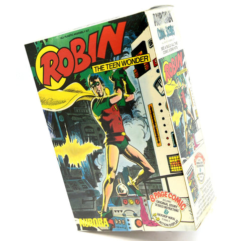 Vintage ROBIN TEEN WONDER Plastic Model Kit No. 193 by AURORA, 1974 Sealed! NIB!
