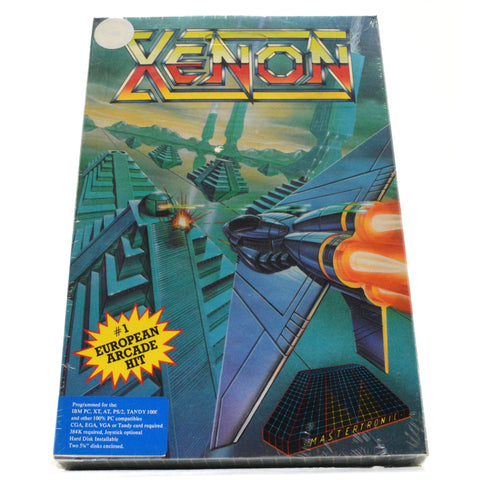"New! ""XENON"" Factory Sealed COMPUTER GAME for IBM PC, TANDY, AMIGA, C-64 & MORE!"