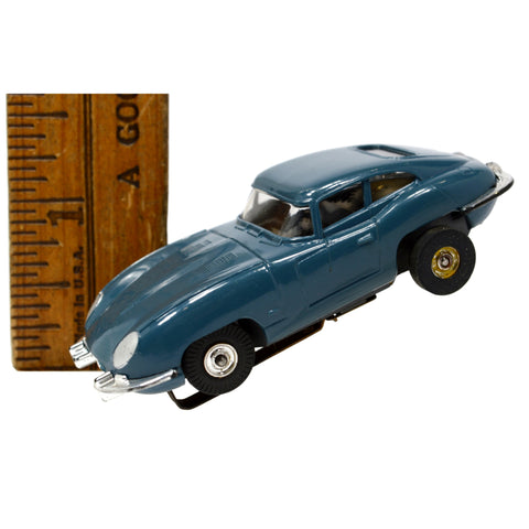 Vintage AURORA THUNDERJET SLOT CAR No. 1358 Slate Blue 1963 JAGUAR XKE Excellent