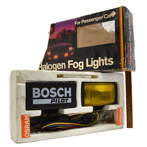 "Never Used! BOSCH ""HALOGEN FOG LIGHTS"" No. 22451 AMBER for PASSENGER CARS in Box"
