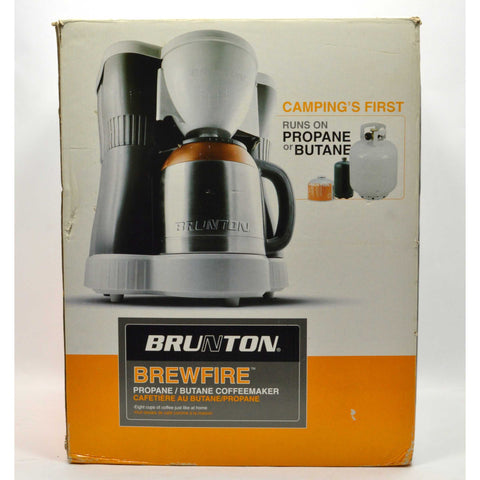 "New-Open Box BRUTON ""BREWFIRE"" Butane or Propane CAMPING COFFEEMAKER 81-100730"