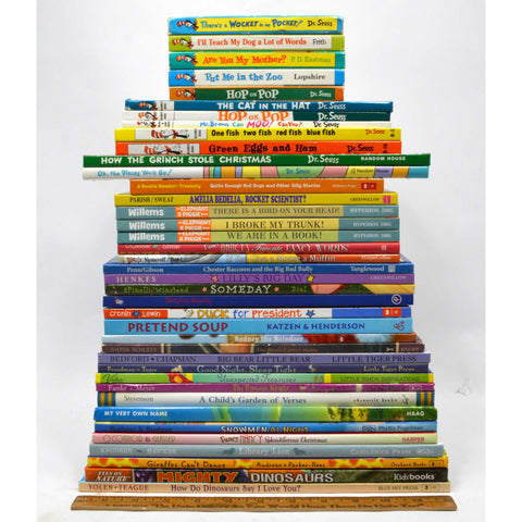 Hardcover CHILDREN'S PICTURE-BOOK Lot of 39 BOOKS Mini Board DR. SEUSS Willems +