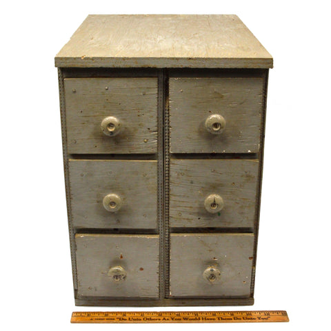 Vintage WOOD APOTHECARY CABINET Chest of 6 Drawers for TOOLS, SPICES, ETC Custom