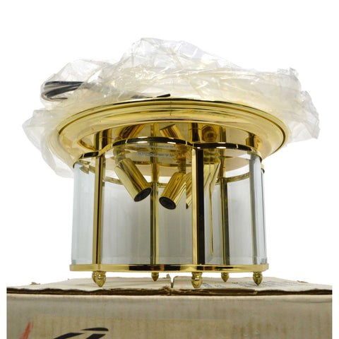 "New (Open Box) ""THOMAS LIGHTING"" No. SL-8403-1 Three Light CEILING FIXTURE Brass"