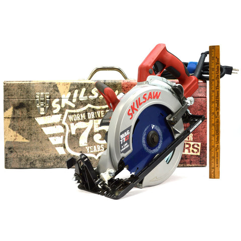 "Briefly Used SKILSAW 7.25"" WORM DRIVE CIRCULAR SAW No. MAG77LT + 75 Years Box!!"