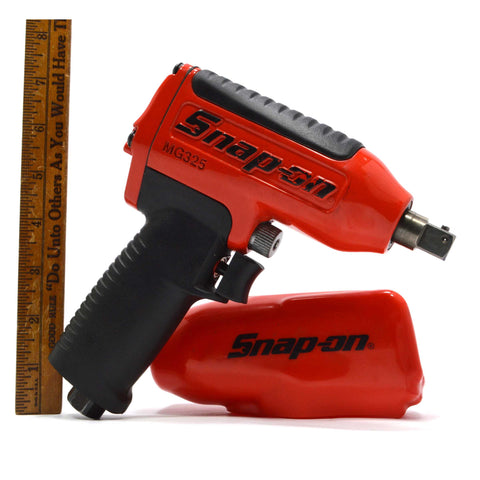 "New (No Box) SNAP-ON PNEUMATIC IMPACT WRENCH 1/2"" Drive Mo. MG325 with Booty!"