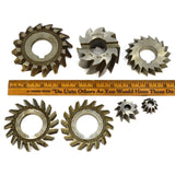 Steampunk SIDE MILLING CUTTER Lot of 7 MILL CUTTERS Brown & Sharpe F&D Morse ++!