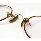 Antique ARISTOCRAT EYEGLASSES Glasses Frames 1/10-12K GOLD FILLED Original Case!