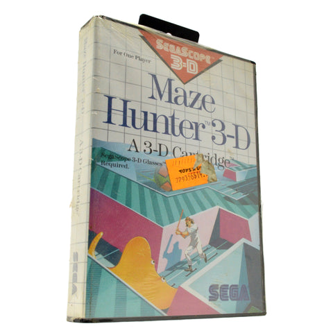 "New! SEGA MASTER SYSTEM ""MAZE HUNTER 3-D"" SMS SegaScope SEALED Video Game c.1988"