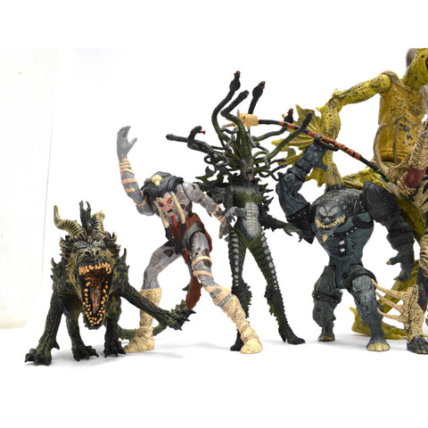 Loose Figure Lot of 9 TODD McFARLANE ACTION FIGURES Mixed SPAWN & OTHERS? c1990s