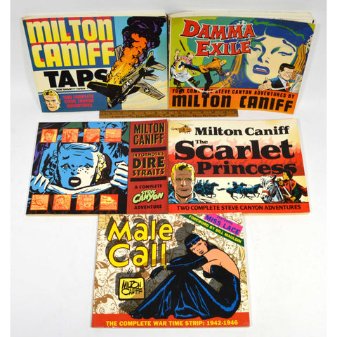 Reprint COMIC BOOK Lot of 5 MILTON CANIFF PAPERBACKS Male Call SCARLET PRINCESS+