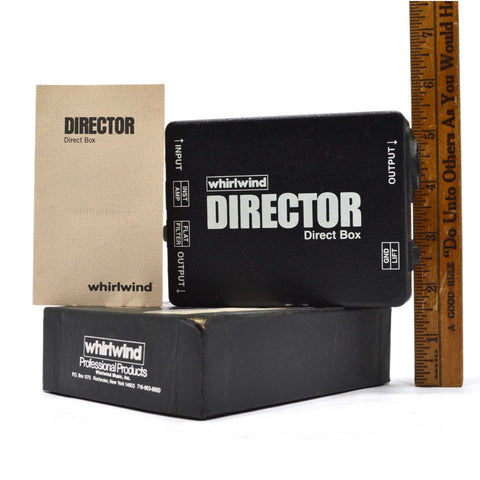 "Briefly Used ""WHIRLWIND DIRECTOR DIRECT BOX"" in Original Box with INSTRUCTIONS"
