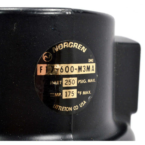 "Never Used NORGREN ""F17 Series"" GENERAL PURPOSE FILTER No. F17-600-M3MA (No Box)"