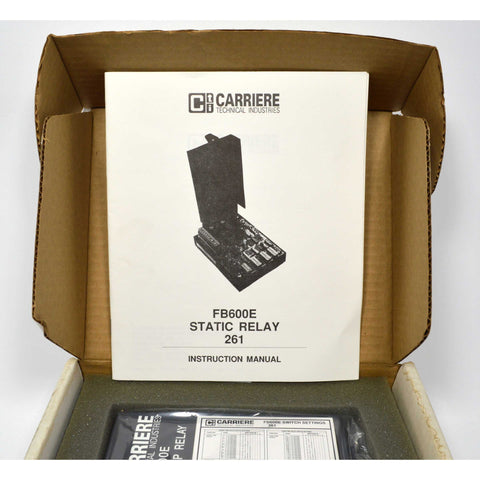 New in Box! CARRIERE STATIC RELAY No. FB600E True RMS Complete w/ Instructions!