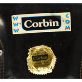 "Excellent CORBIN MOTORCYCLE SEAT No. ""XL 96-6 AM"" Black Leather REPLACEMENT PART"