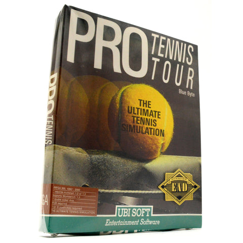 "Brand New! AMIGA 512K ""PRO TENNIS TOUR"" Factory Sealed COMPUTER GAME by Ubi Soft"