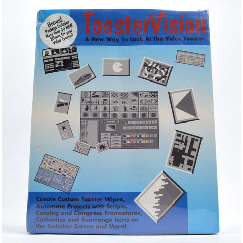 "New-Sealed! VINTAGE PC PROGRAMMING SOFTWARE ""TOASTERVISION"" Toast-Vision Video"