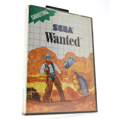 "Brand New! SEGA MASTER SYSTEM ""WANTED"" SMS Factory Sealed SHOOTING VIDEO GAME!!"