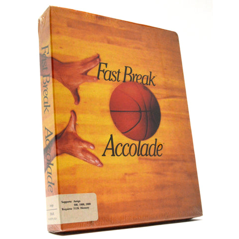 "New! AMIGA 500/1000/2000 ""FAST BREAK"" Factory Sealed! BASKETBALL COMPUTER GAME"