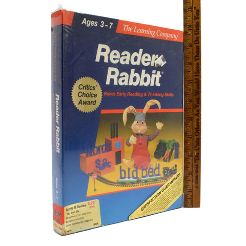 "Sealed APPLE II ""READER RABBIT"" Educational Computer Game AGES 3-7 New 5.25 DISK"