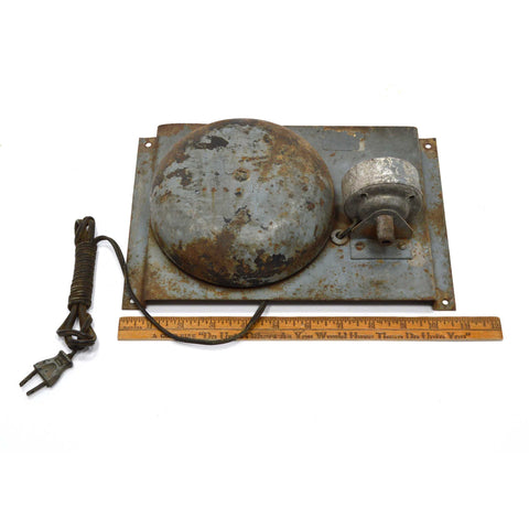 "Vintage STEEL & ALUMINUM FIRE ALARM BELL 6"" School-Warehouse-Station INDUSTRIAL"