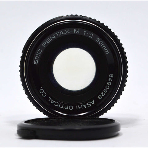 "Looks Good ""SMC PENTAX-M"" CAMERA LENS 1:2, 50mm *K-MOUNT* by ASAHI OPTICAL CO."