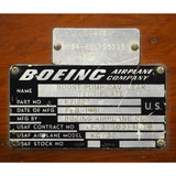 "Vintage BOEING AIRPLANE CO. PART BOX for USAF KC-135 ""BOOST PUMP...TEST PLATE"""